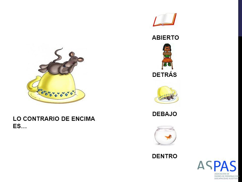 ABIERTO DETRÁS DEBAJO LO CONTRARIO DE ENCIMA ES… DENTRO