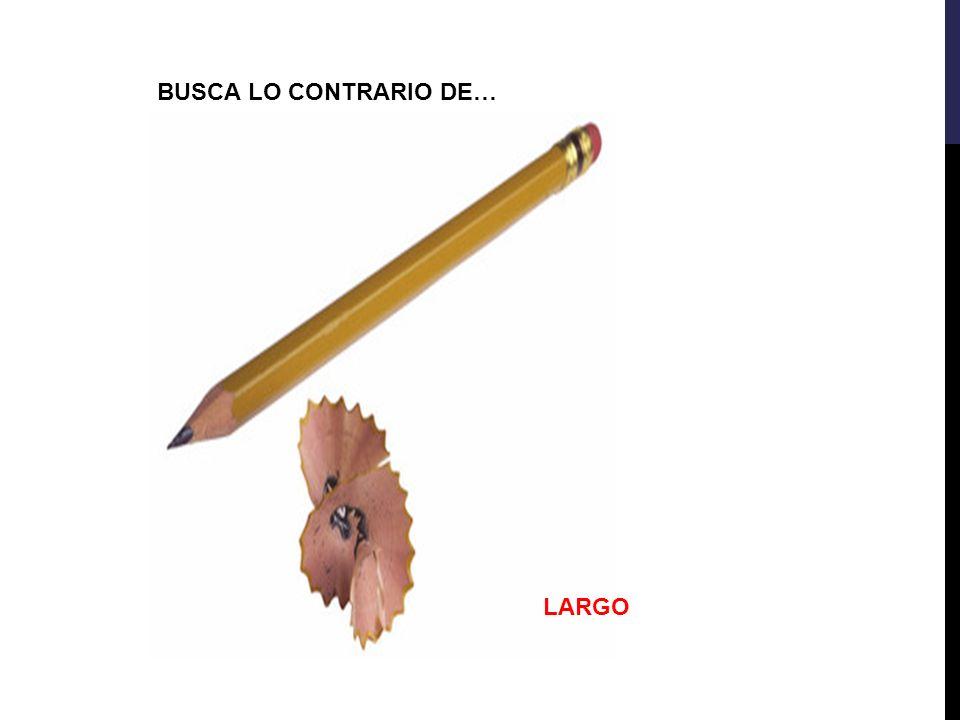 BUSCA LO CONTRARIO DE… LARGO