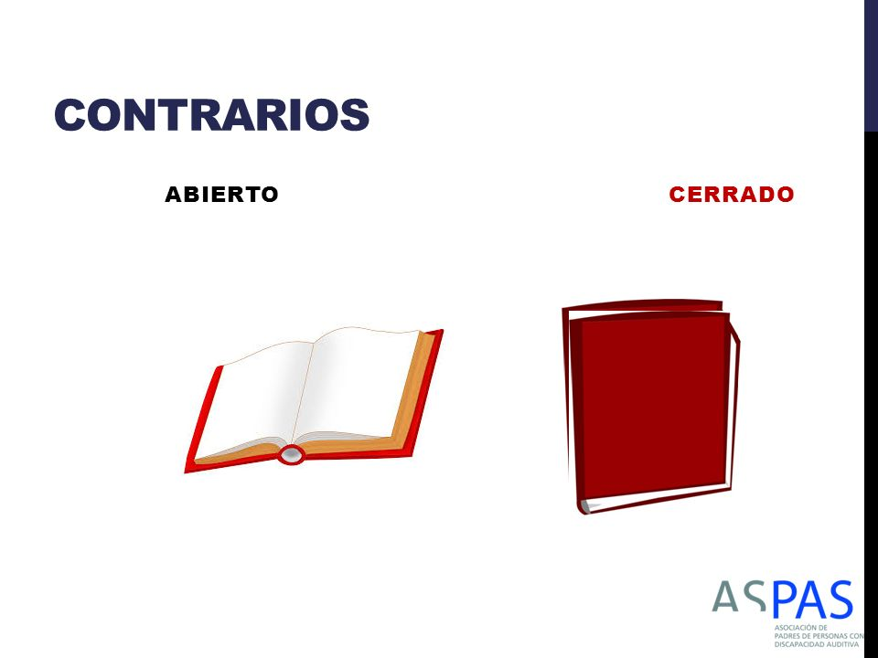 CONTRARIOS ABIERTO CERRADO