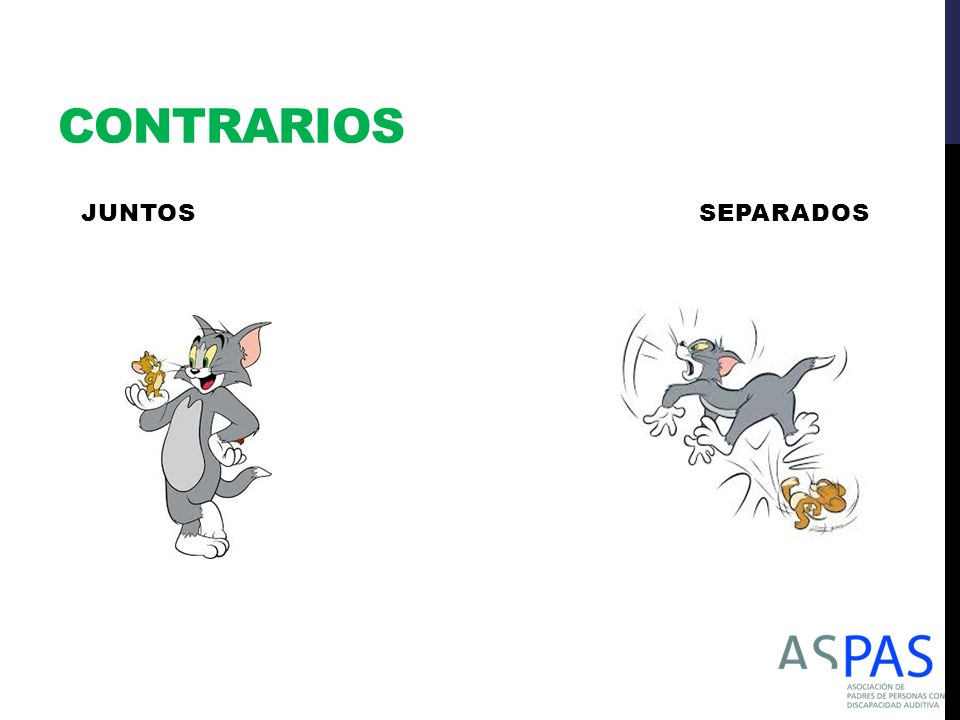 CONTRARIOS JUNTOS SEPARADOS