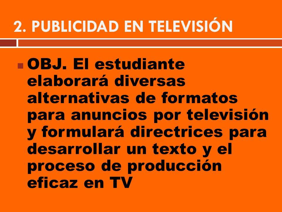 2. PUBLICIDAD EN TELEVISIÓN