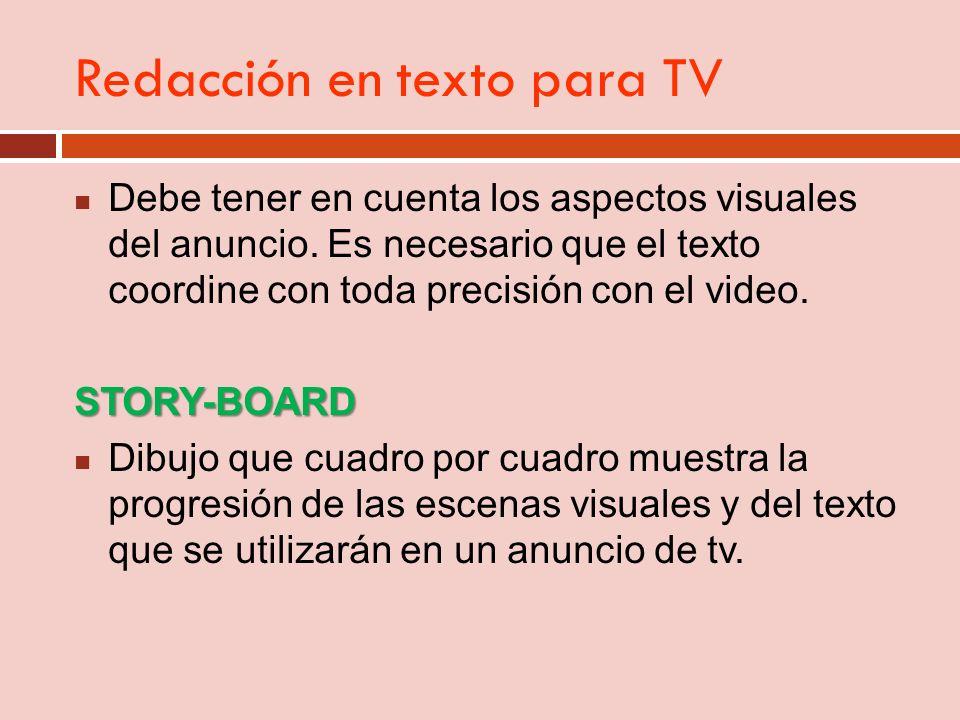 Redacción en texto para TV