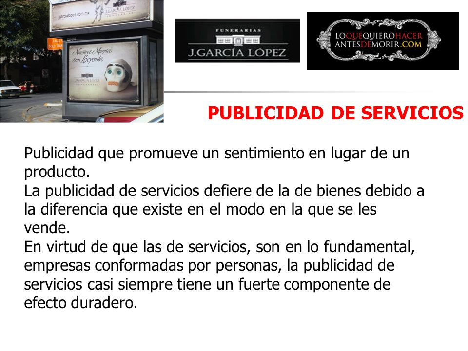 PUBLICIDAD DE SERVICIOS