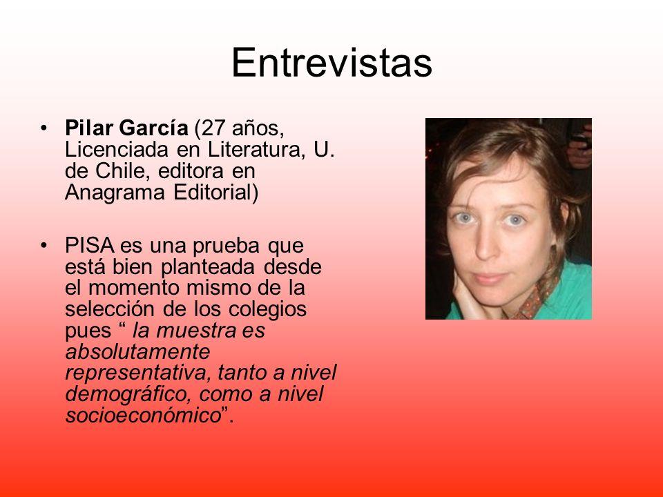 Entrevistas Pilar García (27 años, Licenciada en Literatura, U. de Chile, editora en Anagrama Editorial)