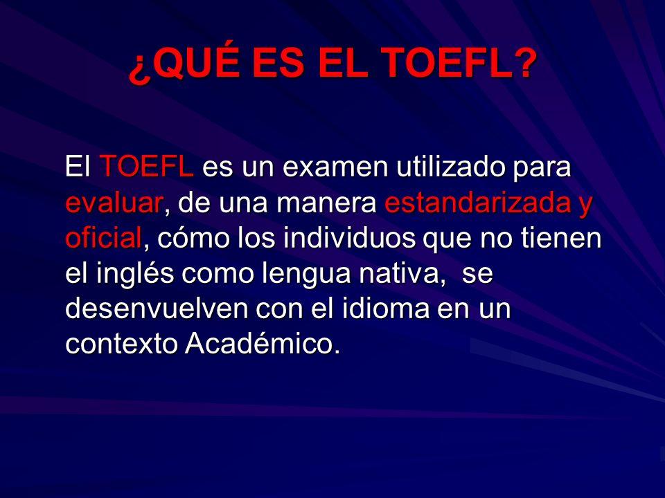 ¿QUÉ ES EL TOEFL