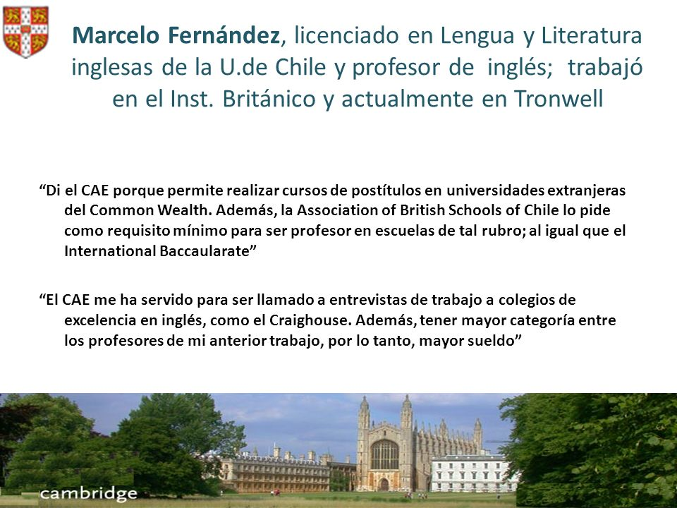 Marcelo Fernández, licenciado en Lengua y Literatura inglesas de la U
