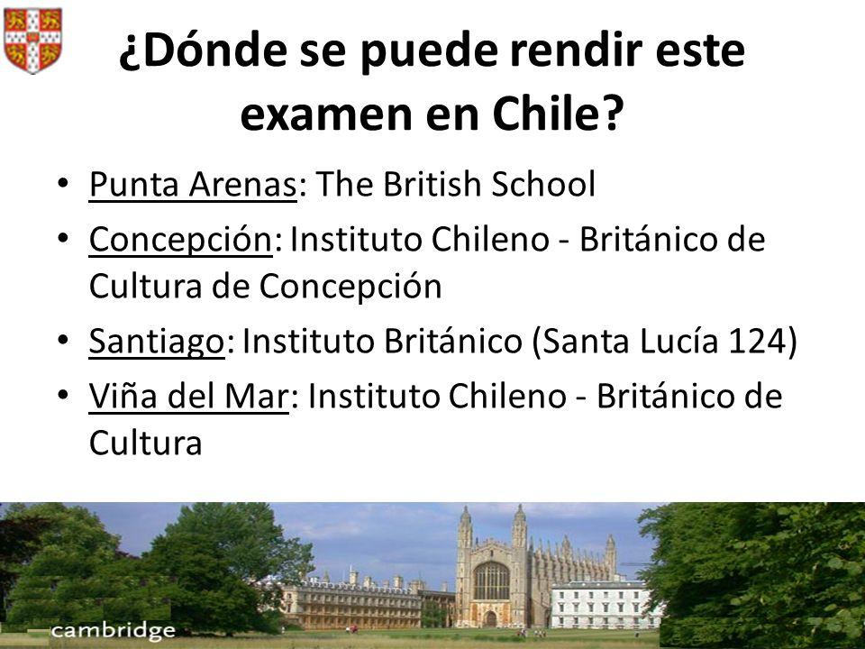 ¿Dónde se puede rendir este examen en Chile