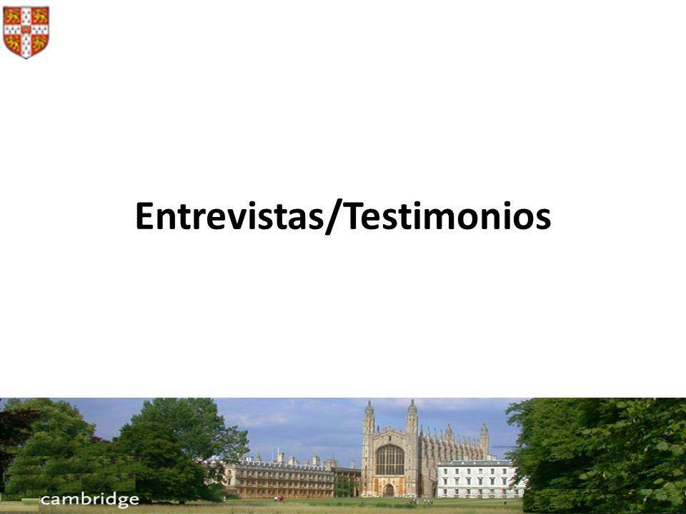 Entrevistas/Testimonios