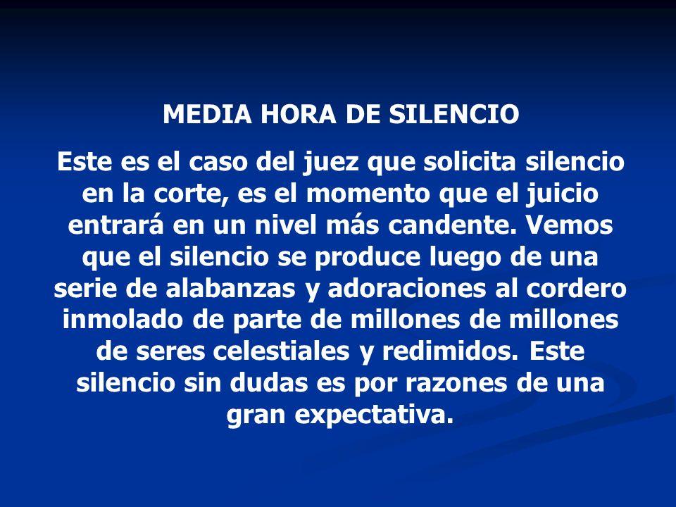 MEDIA HORA DE SILENCIO