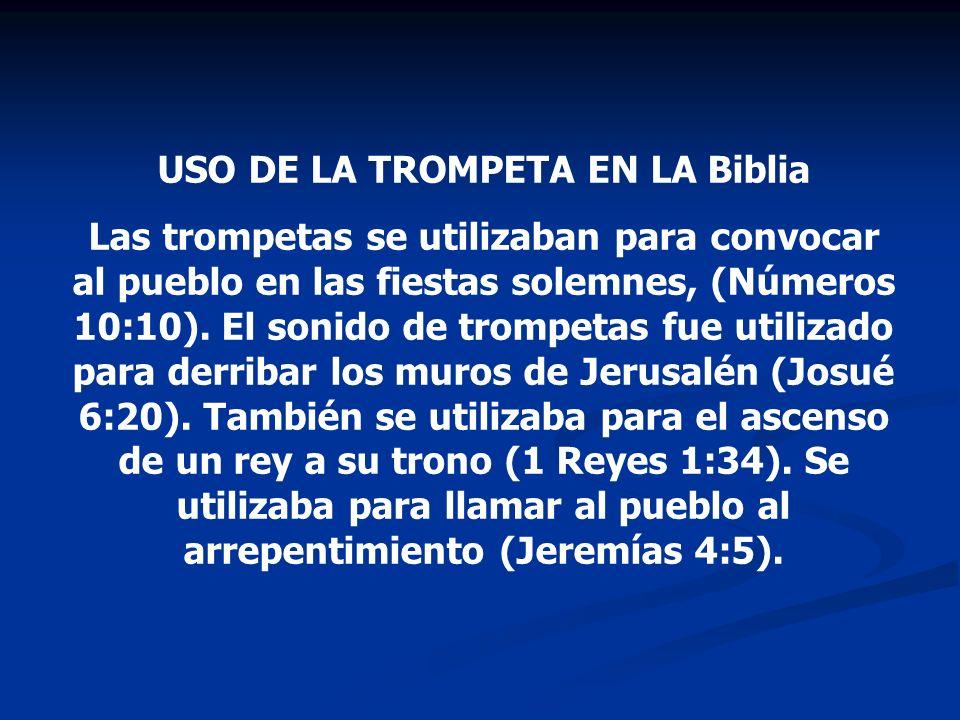 USO DE LA TROMPETA EN LA Biblia