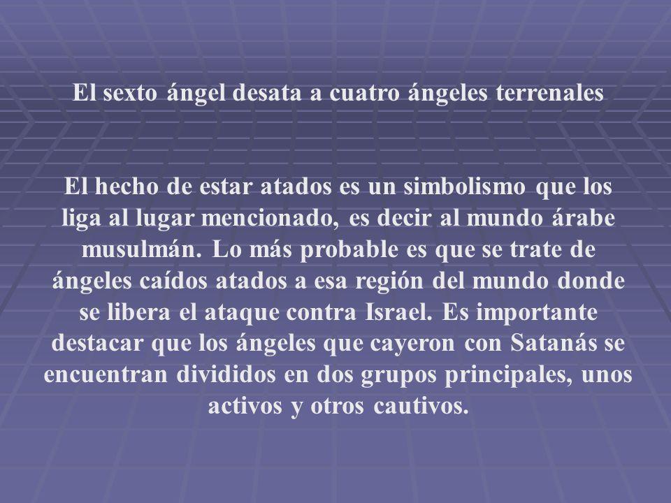 El sexto ángel desata a cuatro ángeles terrenales