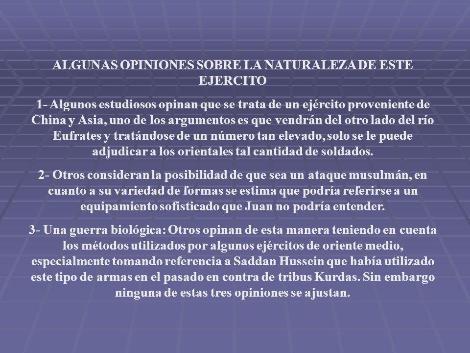 ALGUNAS OPINIONES SOBRE LA NATURALEZA DE ESTE EJERCITO