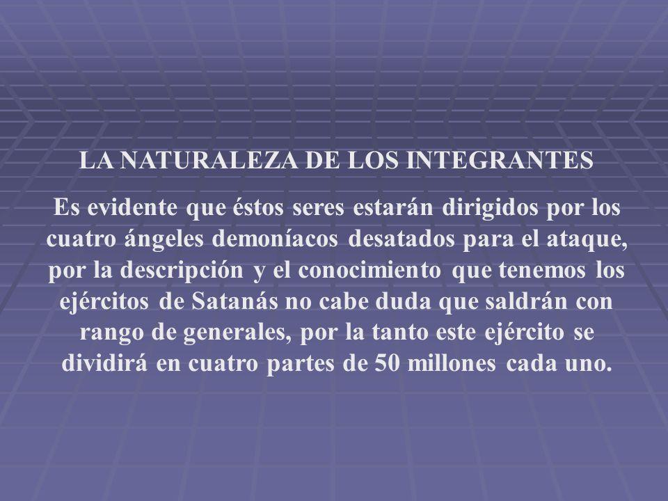LA NATURALEZA DE LOS INTEGRANTES
