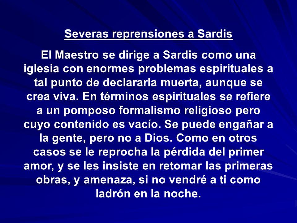 Severas reprensiones a Sardis