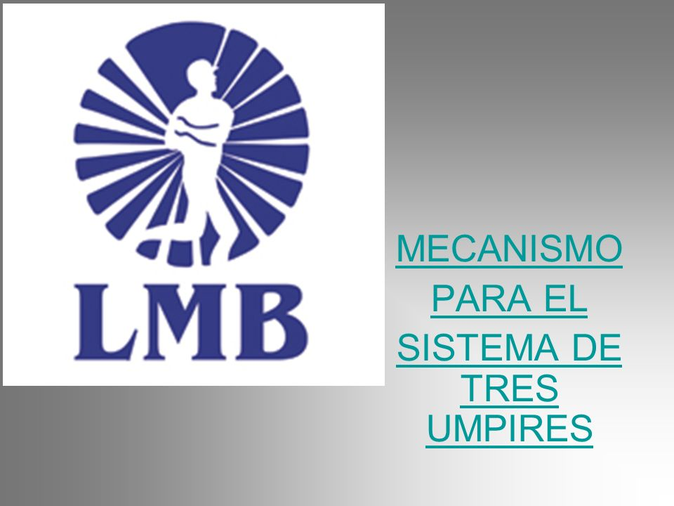 MECANISMO PARA EL SISTEMA DE TRES UMPIRES