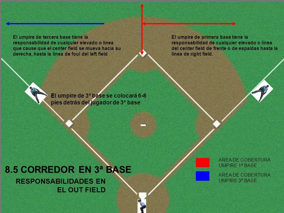 8.5 CORREDOR EN 3ª BASE RESPONSABILIDADES EN EL OUT FIELD