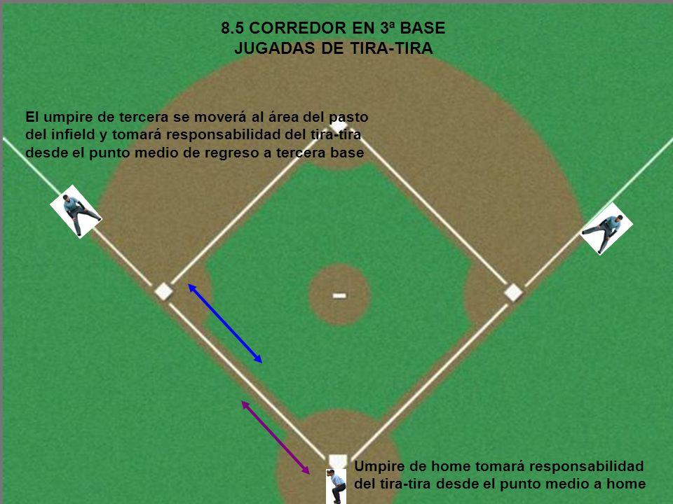 8.5 CORREDOR EN 3ª BASE JUGADAS DE TIRA-TIRA
