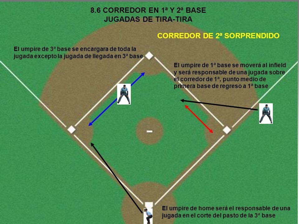 8.6 CORREDOR EN 1ª Y 2ª BASE JUGADAS DE TIRA-TIRA