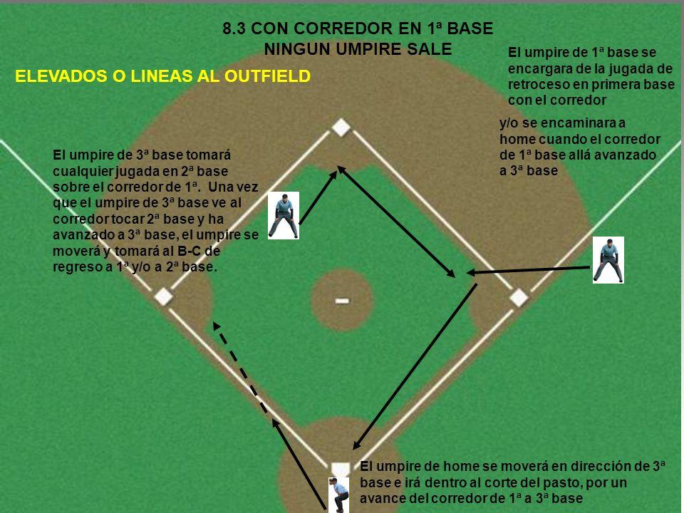 8.3 CON CORREDOR EN 1ª BASE NINGUN UMPIRE SALE