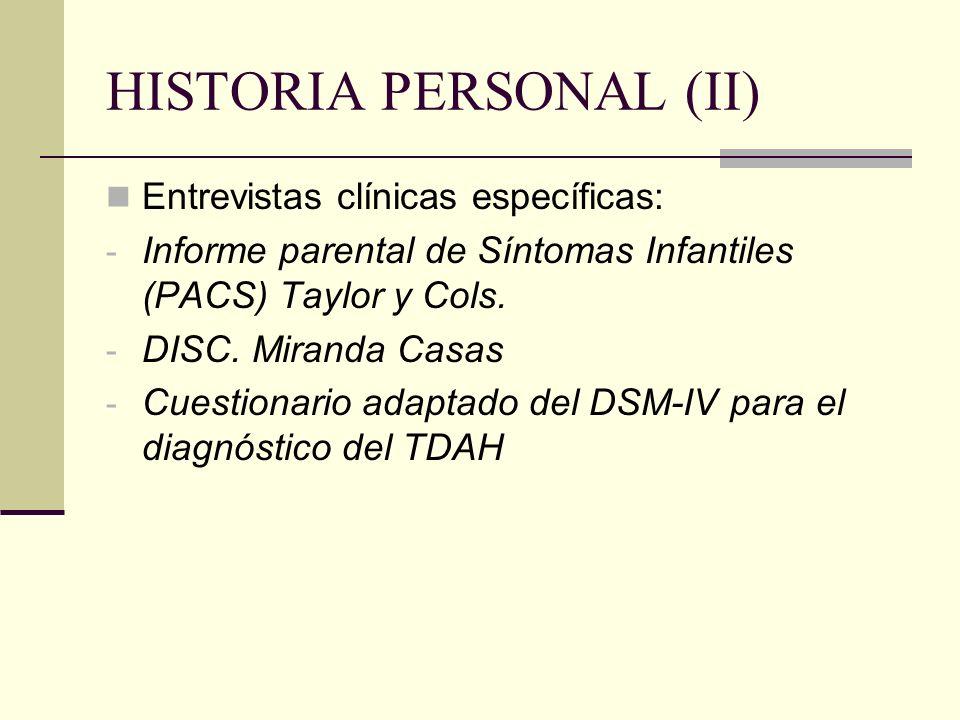 HISTORIA PERSONAL (II)