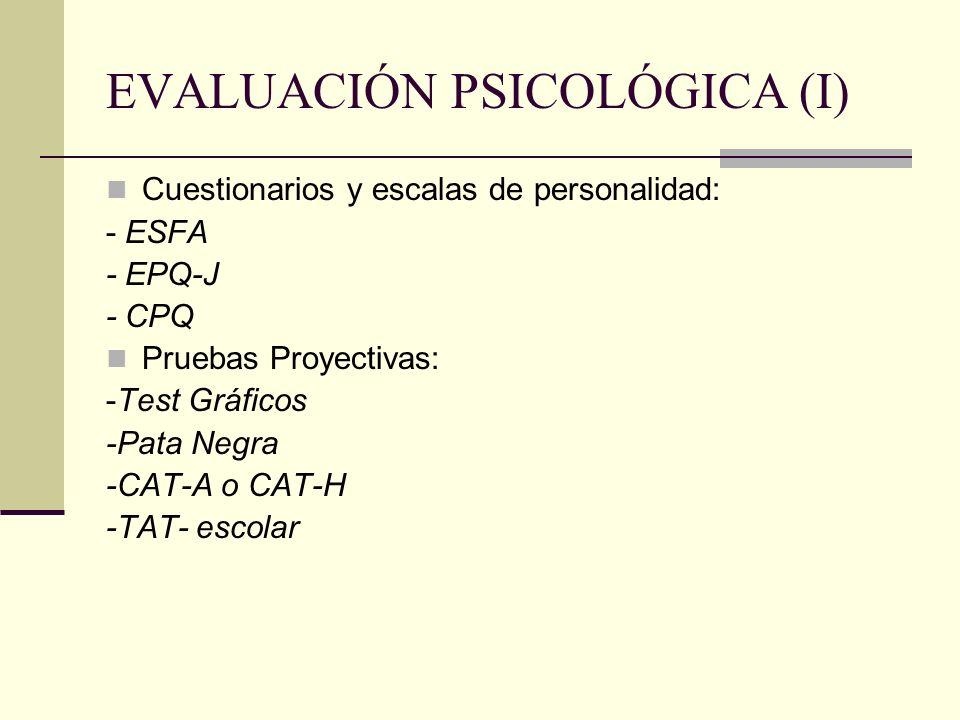 EVALUACIÓN PSICOLÓGICA (I)