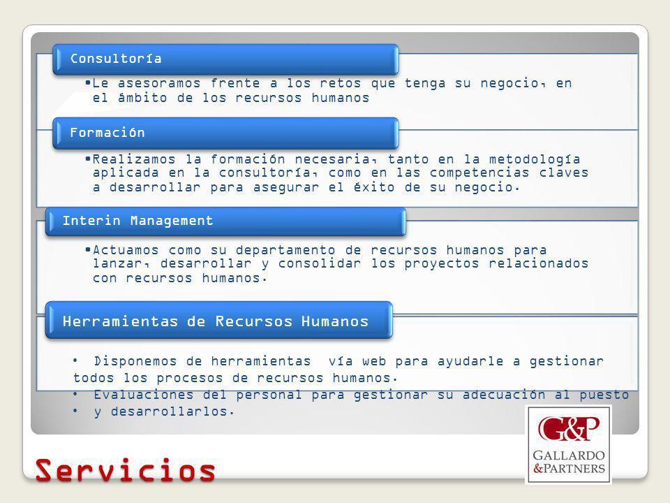 Servicios Herramientas de Recursos Humanos Consultoría
