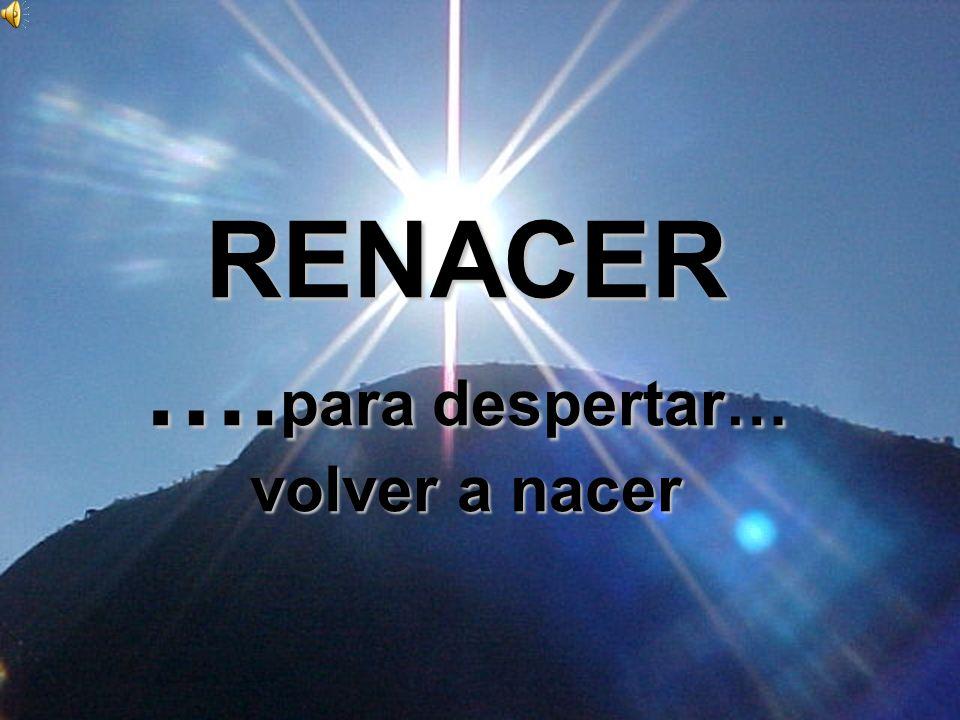 RENACER ….para despertar… volver a nacer