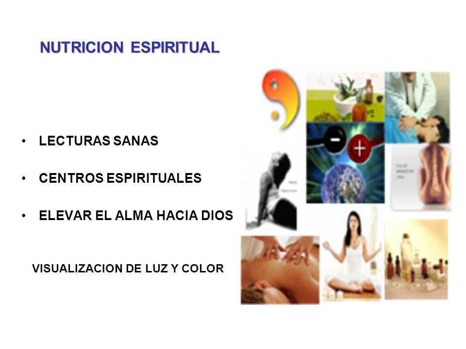 NUTRICION ESPIRITUAL LECTURAS SANAS CENTROS ESPIRITUALES