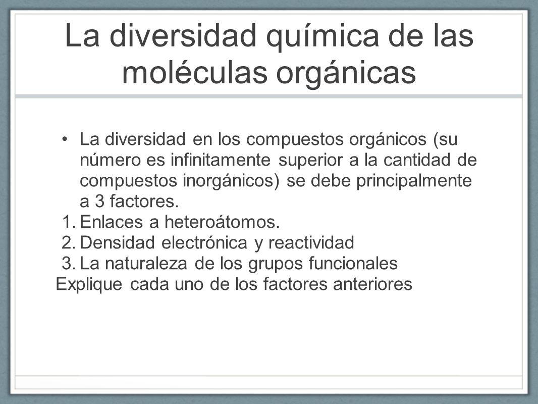 La diversidad química de las moléculas orgánicas