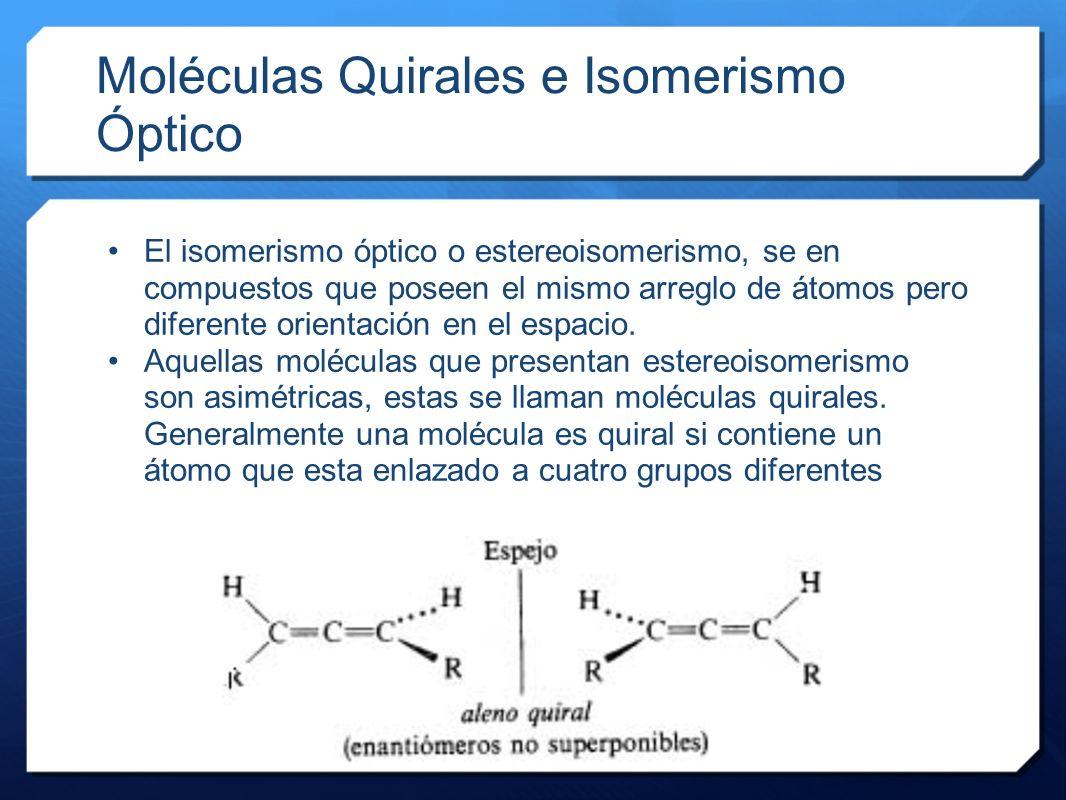 Moléculas Quirales e Isomerismo Óptico