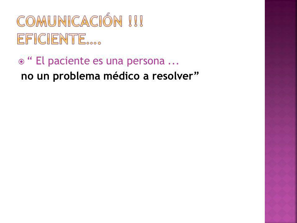 Comunicación !!! Eficiente….