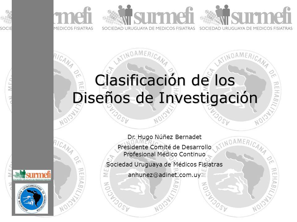 Clasificación de los Diseños de Investigación