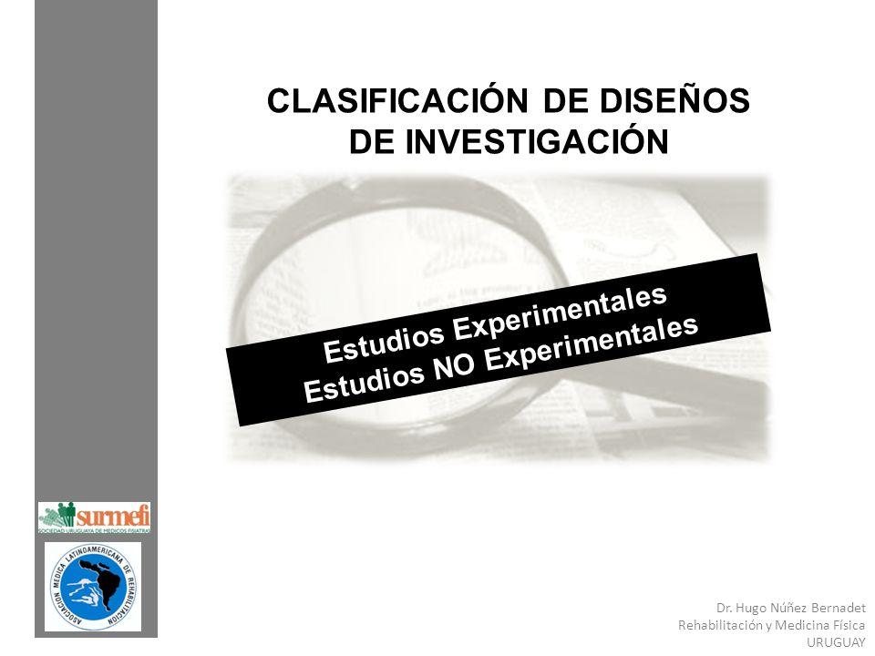 CLASIFICACIÓN DE DISEÑOS DE INVESTIGACIÓN