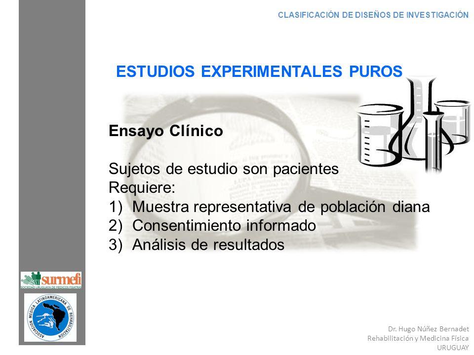 ESTUDIOS EXPERIMENTALES PUROS