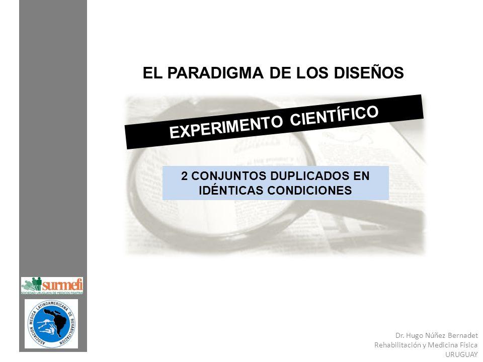 EL PARADIGMA DE LOS DISEÑOS EXPERIMENTO CIENTÍFICO