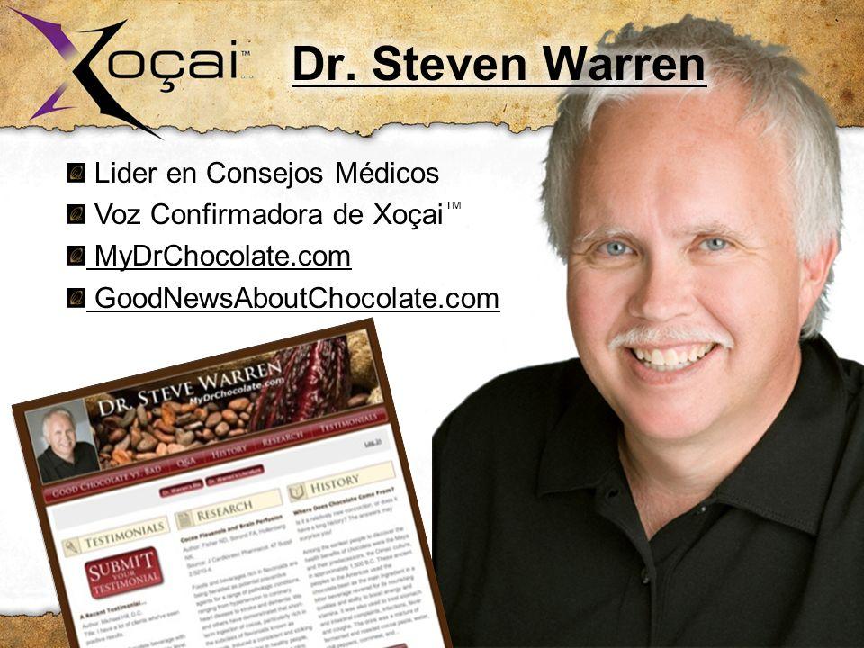 Dr. Steven Warren Lider en Consejos Médicos Voz Confirmadora de Xoçai™