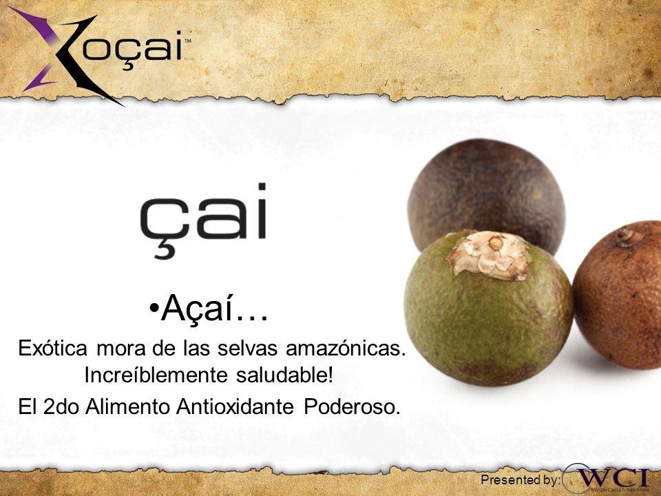 •Açaí… Exótica mora de las selvas amazónicas. Increíblemente saludable! El 2do Alimento Antioxidante Poderoso.