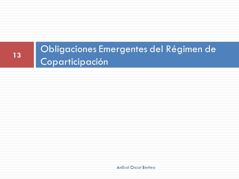 Obligaciones Emergentes del Régimen de Coparticipación