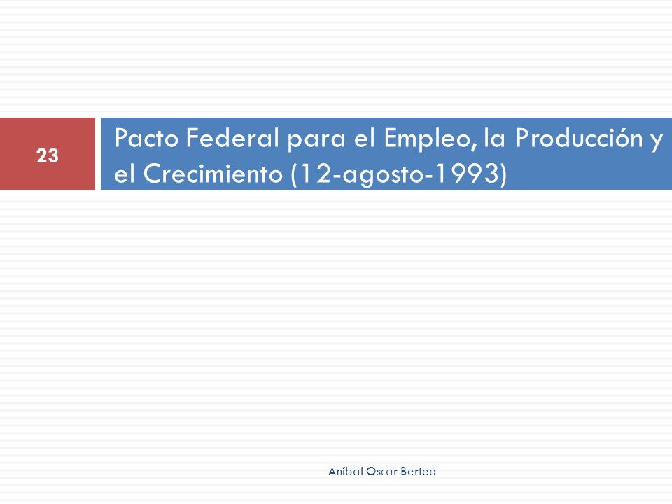 Pacto Federal para el Empleo, la Producción y el Crecimiento (12-agosto-1993)
