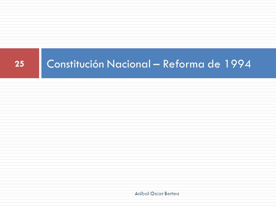 Constitución Nacional – Reforma de 1994