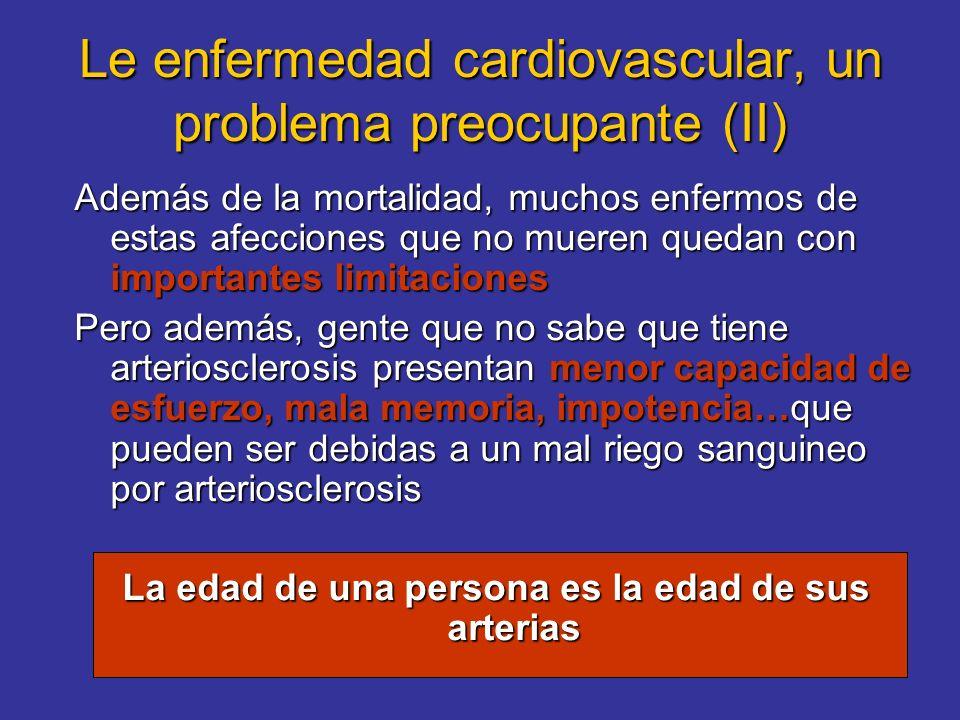 Le enfermedad cardiovascular, un problema preocupante (II)