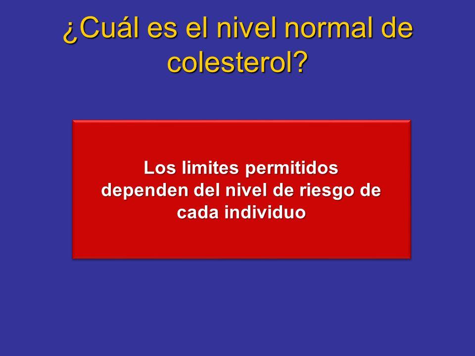 ¿Cuál es el nivel normal de colesterol