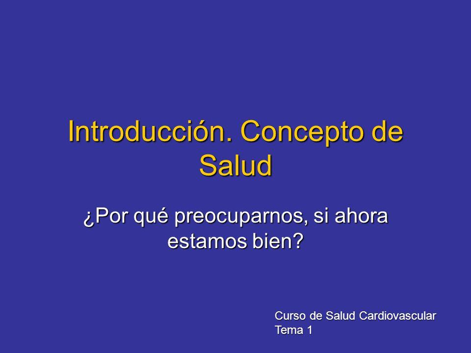 Introducción. Concepto de Salud