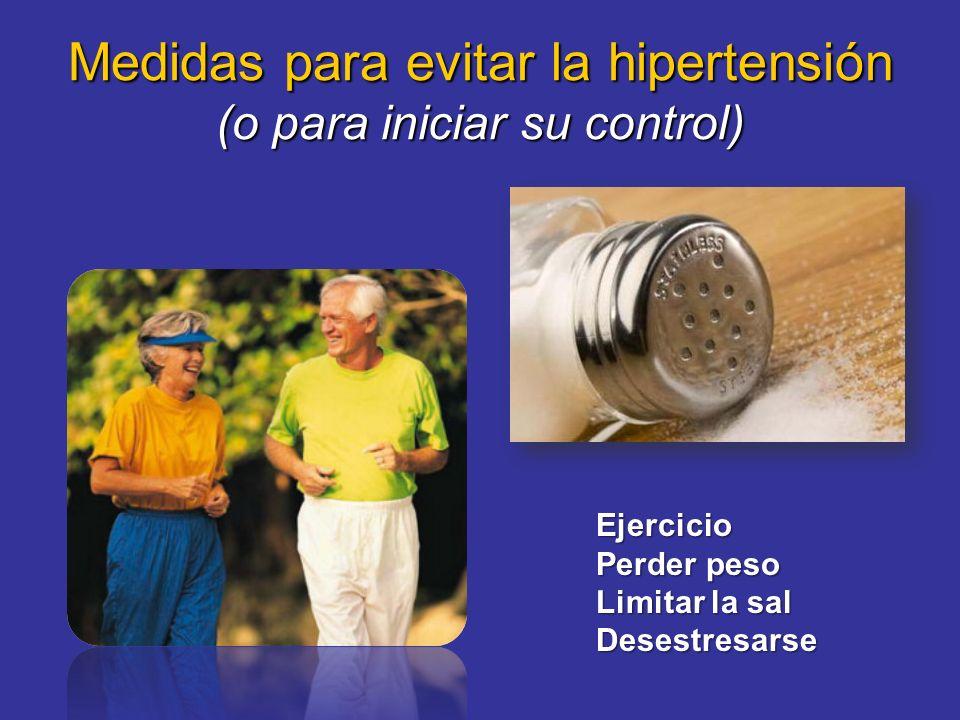 Medidas para evitar la hipertensión (o para iniciar su control)