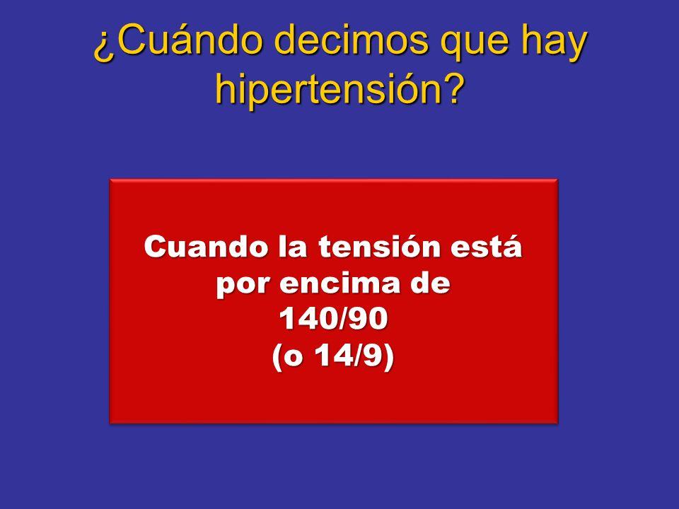 ¿Cuándo decimos que hay hipertensión