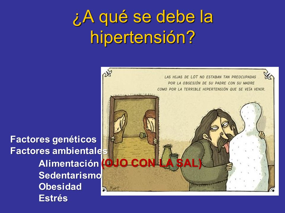 ¿A qué se debe la hipertensión
