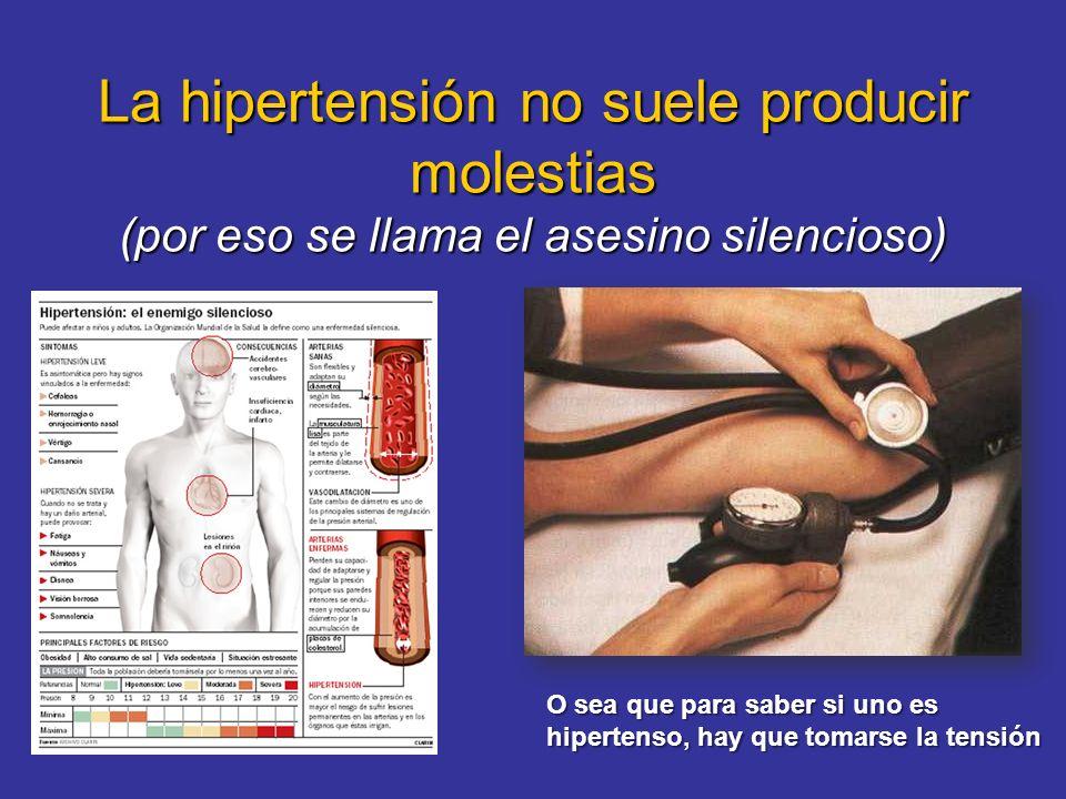 La hipertensión no suele producir molestias (por eso se llama el asesino silencioso)