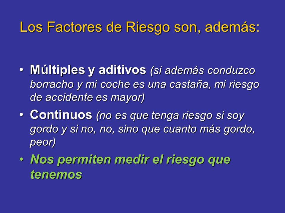 Los Factores de Riesgo son, además: