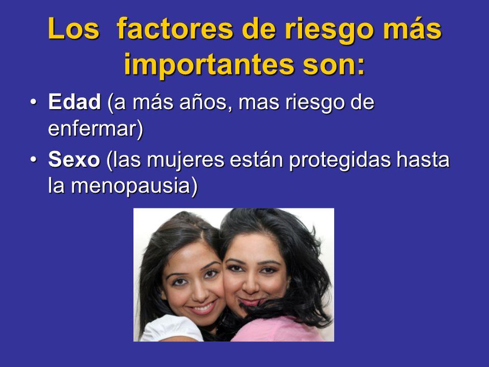 Los factores de riesgo más importantes son: