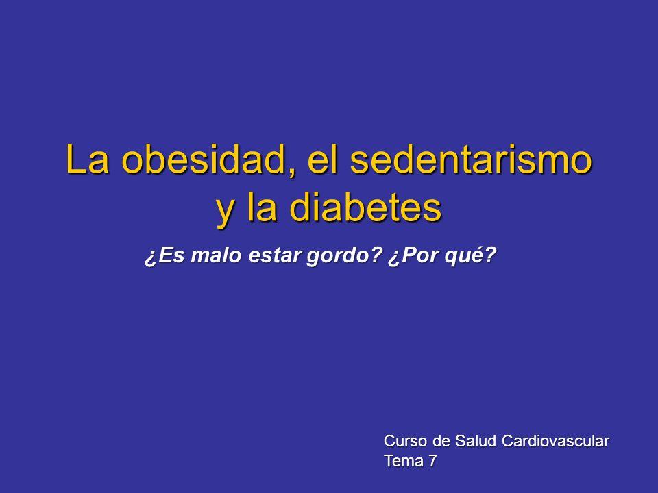 La obesidad, el sedentarismo y la diabetes